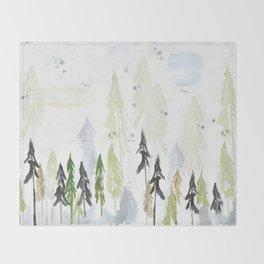 Into the Woods Woodland Scene Throw Blanket