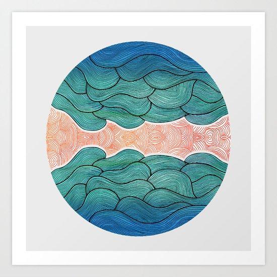 Ocean Flow Art Print