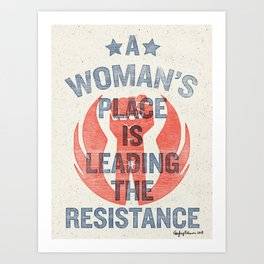 Leading the Resistance Art Print