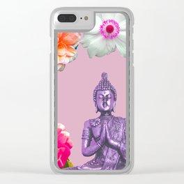 Lavender Buddha Clear iPhone Case