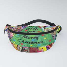 We Woof You a Merry Christmas Fanny Pack
