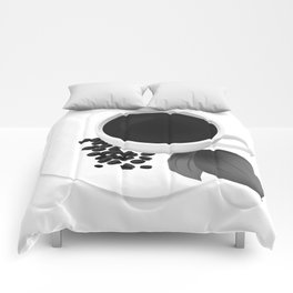 Coffee Cup - Black & White Comforters