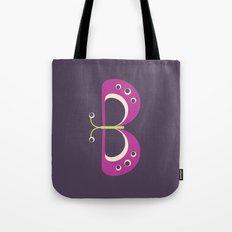 Letter B // Animal Alphabet // Butterfly Tote Bag
