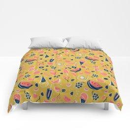 Summer Food Fiesta Comforters