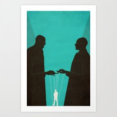 Face Off Art Print