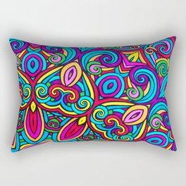 Saratoga Rainbow Swirls Absract Mandala Rectangular Pillow