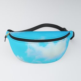 White Clouds Bright Blue Sky Fanny Pack