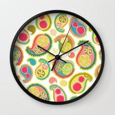 Veggie Paisley Wall Clock