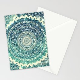 BICOLOR COLD WINTER MANDALA Stationery Cards