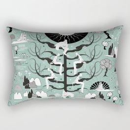 The six princesses (Celadon) Rectangular Pillow