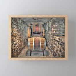 Wine Barrels Framed Mini Art Print