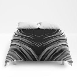 stripes wave pattern 3 bwii Comforters