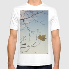 October sky MEDIUM White Mens Fitted Tee