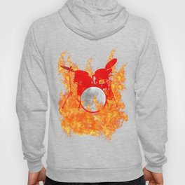 Flaming Red Drum Set Hoody