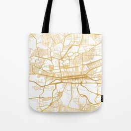 JOHANNESBURG SOUTH AFRICA CITY STREET MAP ART Tote Bag