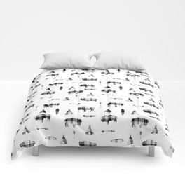 Buffalo Tribe // Grey/Black Plaid Comforters