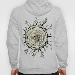 Watercolor Tree Ring Roots Hoody