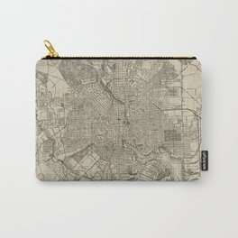 Vintage Map of Baltimore MD (1919) Carry-All Pouch