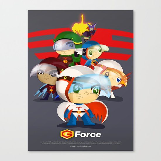 G force Canvas Print