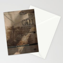 "Vintage Wood ""OUI"" Stationery Cards"