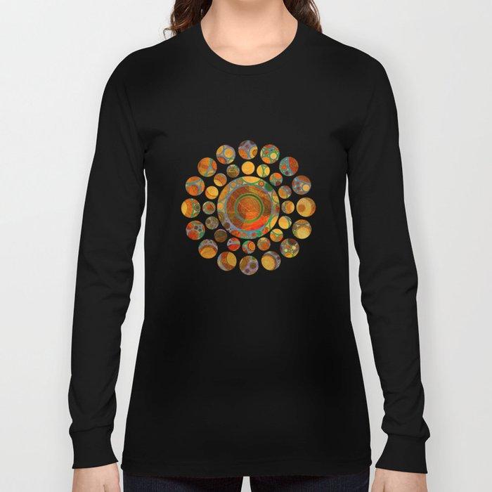 Abstract Circles Pattern 2 Long Sleeve T-shirt