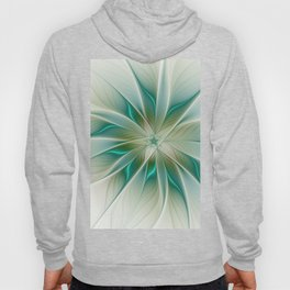 Floral Lights, Abstract Fractal Art Hoody