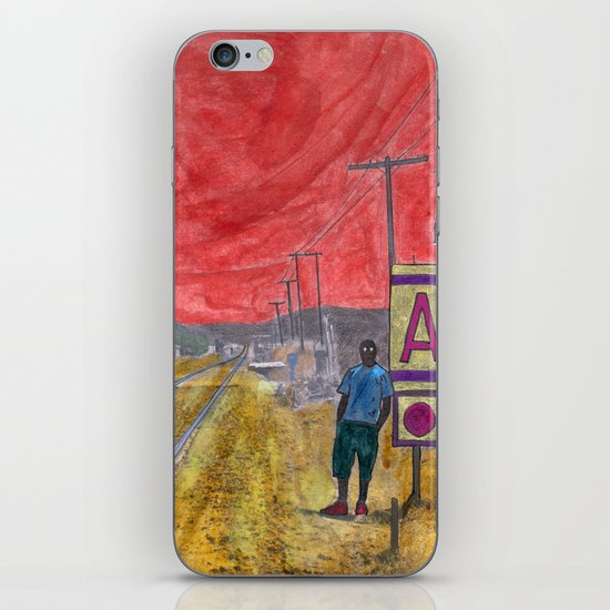 Maybe I can catch another train iPhone & iPod Skin