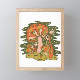 Forest of Mushrooms Framed Mini Art Print