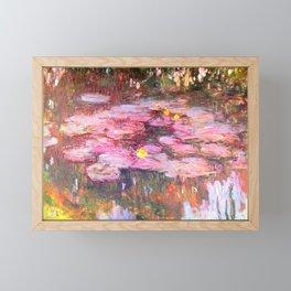 Water Lilies monet 1917 enhanced Framed Mini Art Print