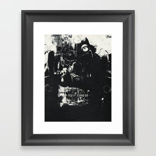 World on fire Framed Art Print