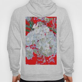 DELICATE RED & WHITE LACE FLORAL Hoody