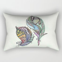 Two Feathers Rectangular Pillow