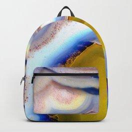 Rainbow Agate geode slice #2018 Backpack