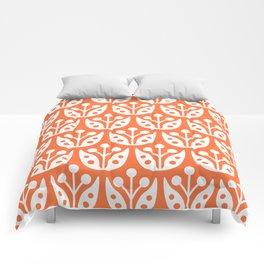 Mid Century Flower Pattern 4 Comforters