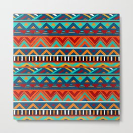Affrican pattern, abstract geometric pattern Metal Print