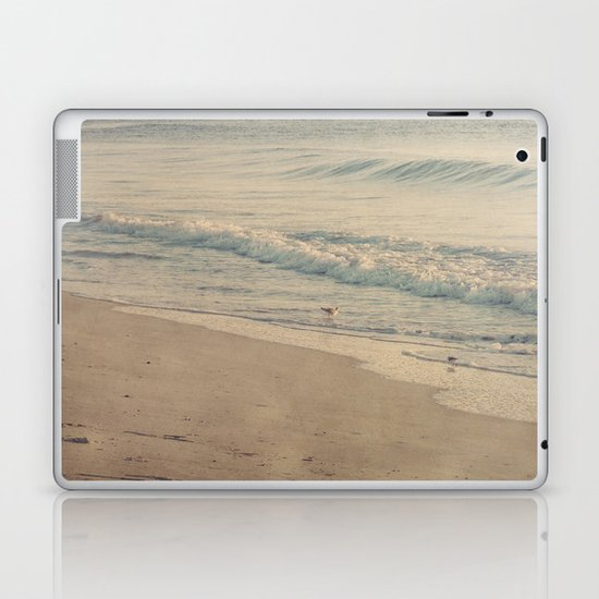 Morning Surf with Sand Pipers Laptop & iPad Skin
