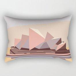 Geometric Opera House, Sydney Rectangular Pillow