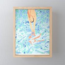 Munich Olympic Diver Poster by David Hockney - 1972 Olympics Framed Mini Art Print