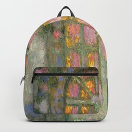 Fountain in a Paris Garden by Henri le Sidaner Backpack