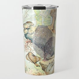 Ocean by Adolphe Millot // XL 19th Century Starfish Jellyfish Coral Reef Science Textbook Artwork Travel Mug