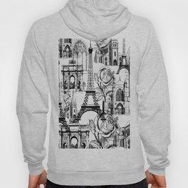 Paris - Black and White Hoody