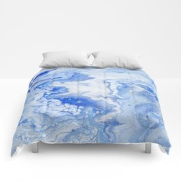 Wintry Fairy Land: Acrylic Pour Painting Comforters
