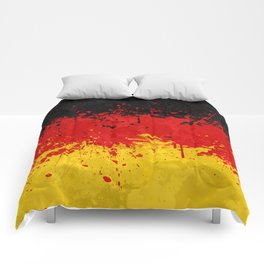 Germany Flag - Messy Action Painting Comforters