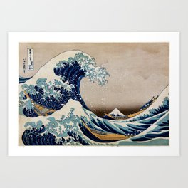 Under the Great Wave by Hokusai Art Print