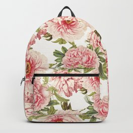 old fashioned peonies Backpack
