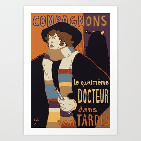 Le Fourth Doctor Art Print