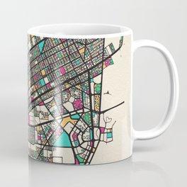 Colorful City Maps: Cancun, Mexico Coffee Mug