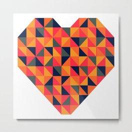 Geo Heart Metal Print