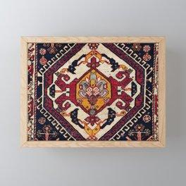Qashqa'i Fars Persian Antique Tribal Bag Framed Mini Art Print