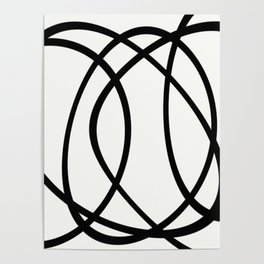 Community - Black and white abstract Poster